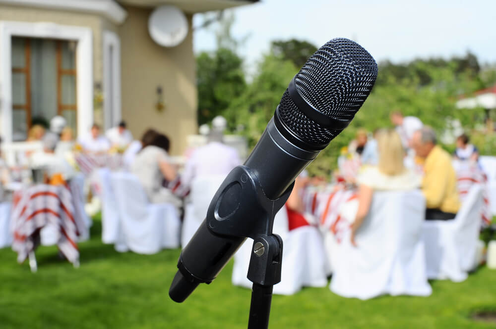 microphone - how not to give a wedding toast