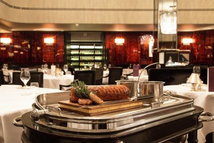 Beef Wellington Trolley Savoy Grill