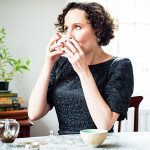 Rare Tea Company Henrietta Drinking Tea