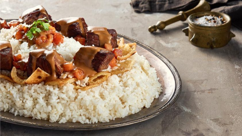 Beef shank over Egyptian faatah