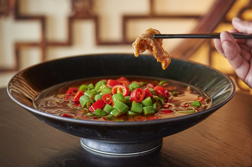Chinese Wagyu beef in hot and sour broth from Hutong at Shard