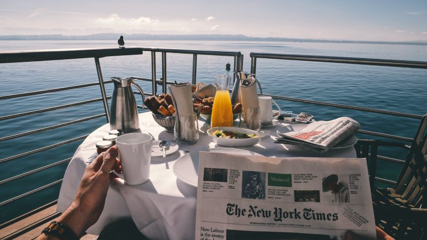 Breakfast with a view on a 20th anniversary cruise