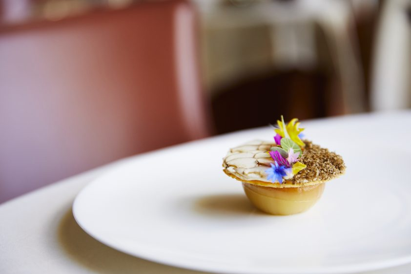 Autumn dish at London Michelin star restaurant Coworth Park