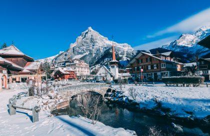 White mountains in Switzerland