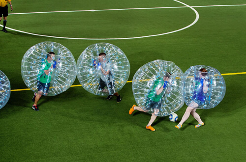 bubble football zorbing