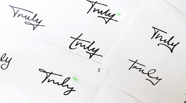Exploration looking at different handwriting styles