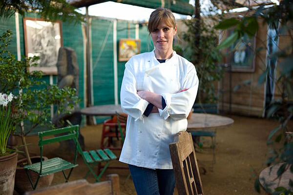 Skye Gyngell owner of Petersham Nurseries Cafe who has won her first Michelin Star