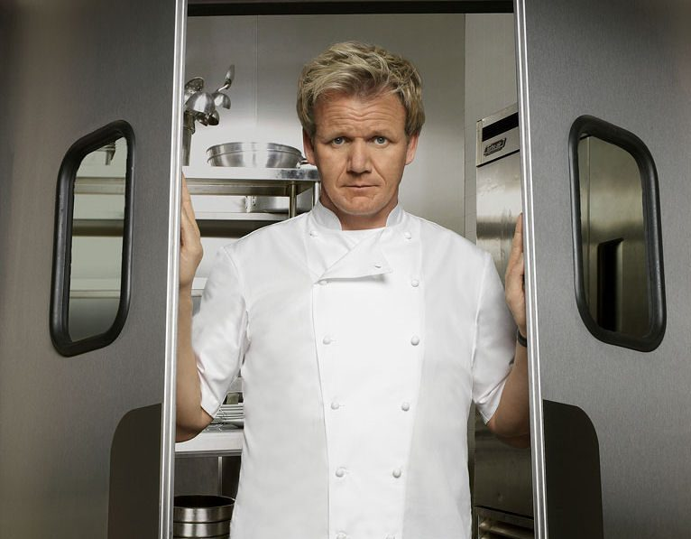 Chef Gordon Ramsay, one of the most famous chefs in the world