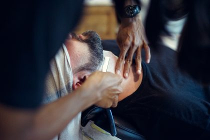 Man getting shave