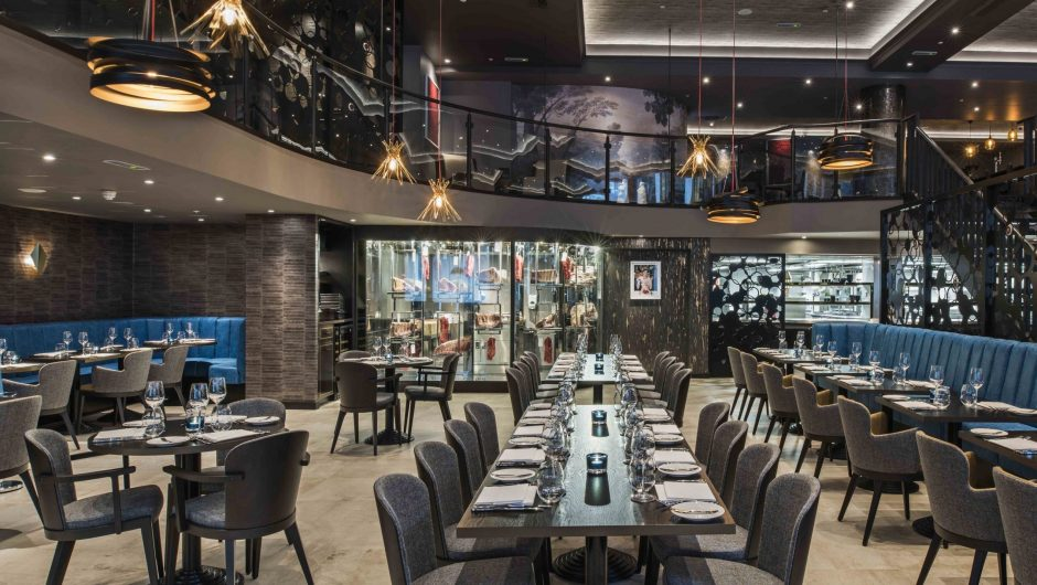 Luxurious interiors of M Restaurant on Threadneedle