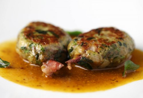 Chef Sriram Aylur of Quilon's signature dishe, Stuffed Quail Legs