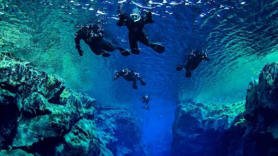 Experience snorkeling between two continents at the Iceland Silfra Fissure