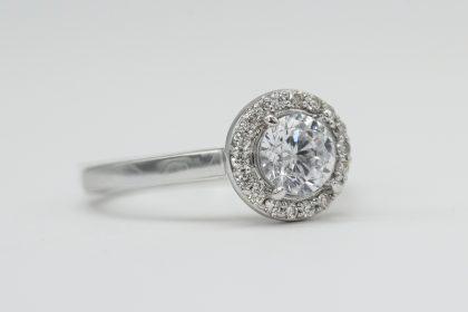 Diamond ring for a diamond wedding anniversary