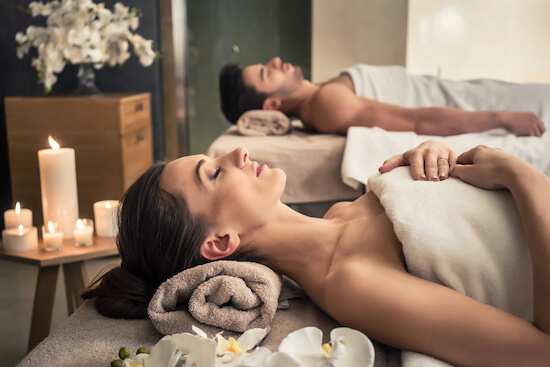 Book your partner in for a relaxing pamper session