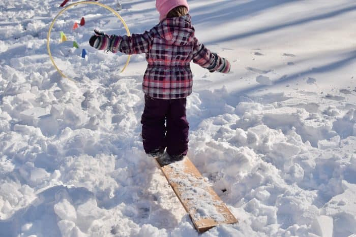 Kiddies Snow Obstacle Course