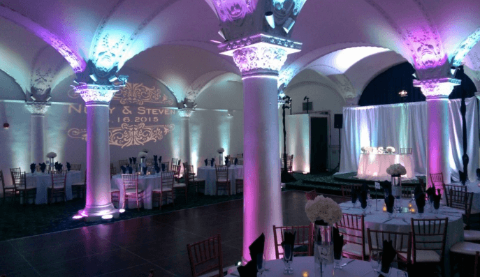 The Romanesque Room at the Historic Green Hotel