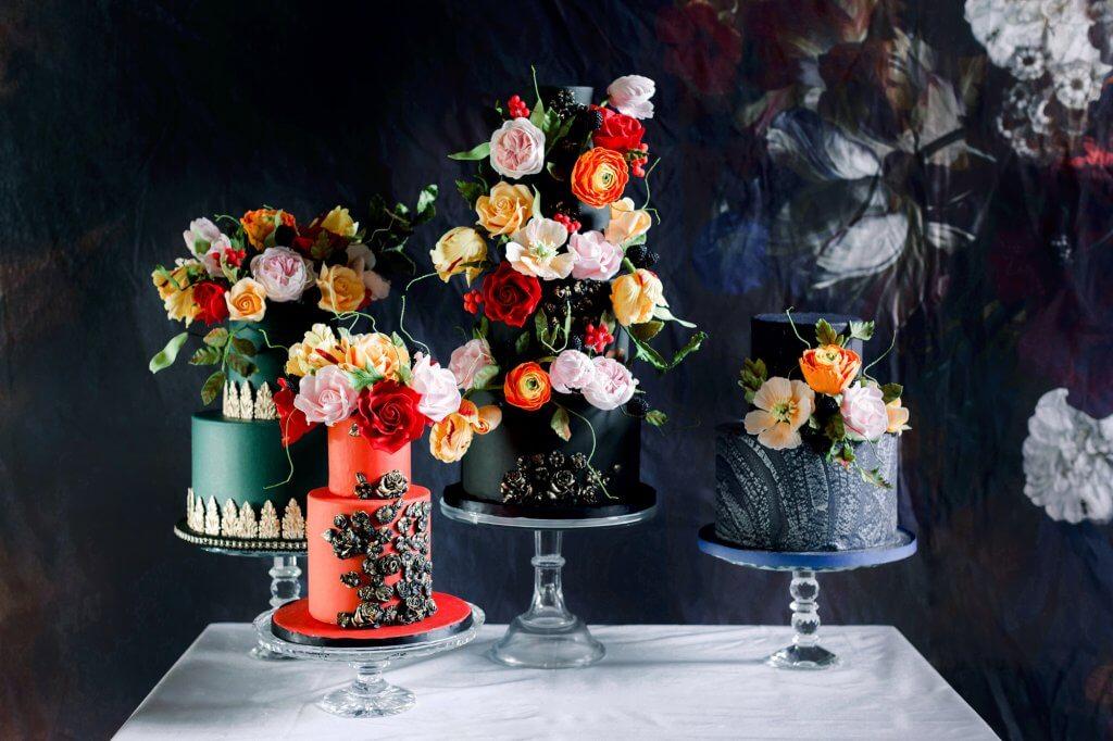 Floral Fantasy Wedding Cake