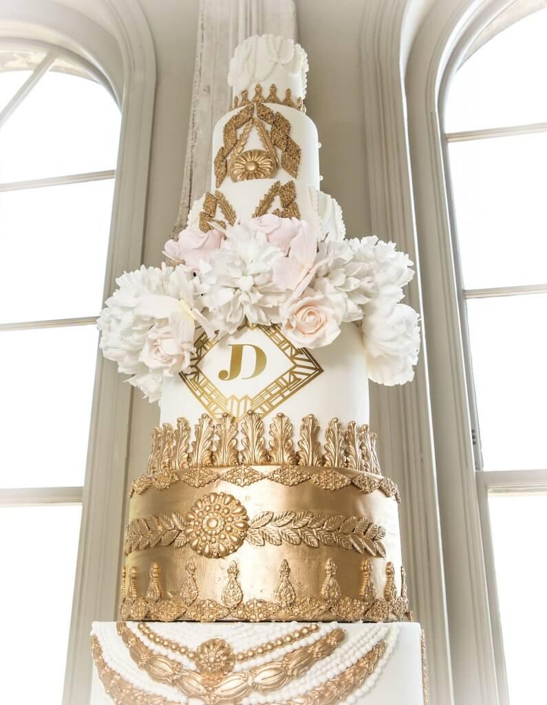 Monogram Magic Wedding Cake