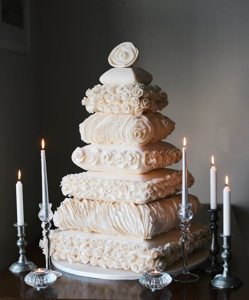 Unconventional Pillow Wedding Cake