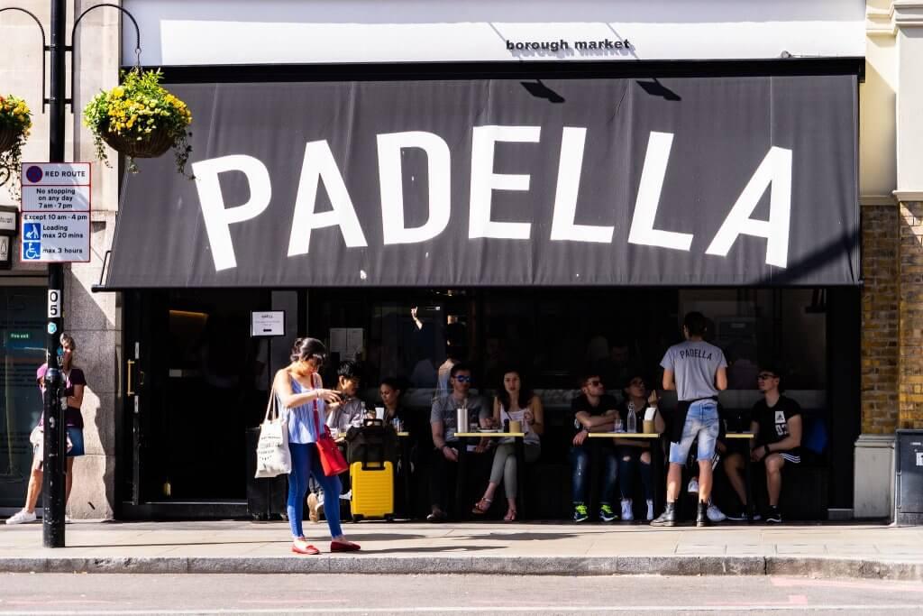 Outside Padella restaurant.