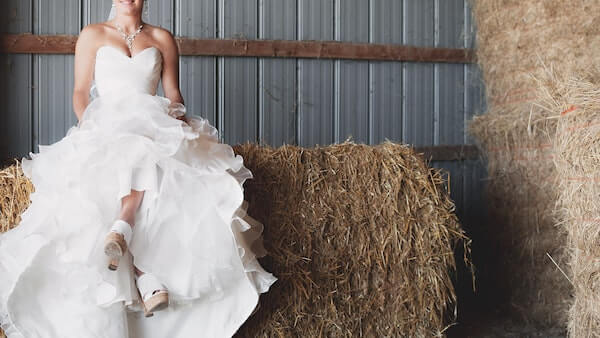 Bride with Rustic Wedding Theme