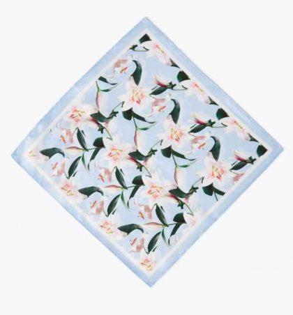 Silk Lily Print Hankerchief