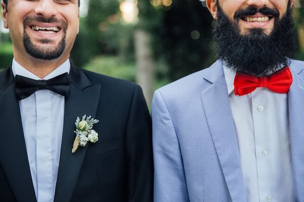 Two Happy Grooms Getting Married