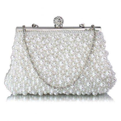 Vintage pearl clutch bag