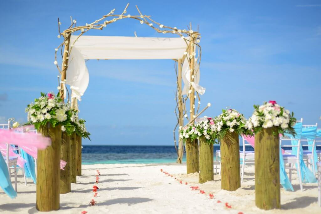 Beach Wedding Floral Arrangements