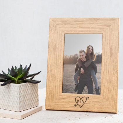 Couples engagement photo frame