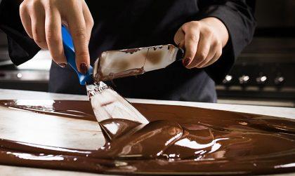 Chocolate tempering at Hotel Chocolat