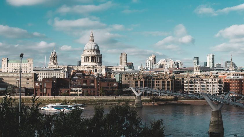 St Paul's Cathedral in London City Skyline