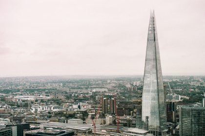 The Shard building making up the London skyline