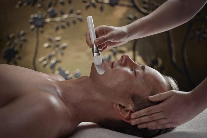 Man enjoying spa treatment