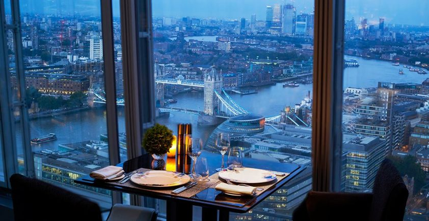 View from Oblix at the Shard restaurant