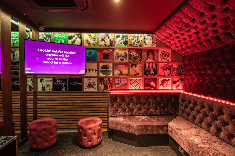 Karaoke room at Lucky Voice