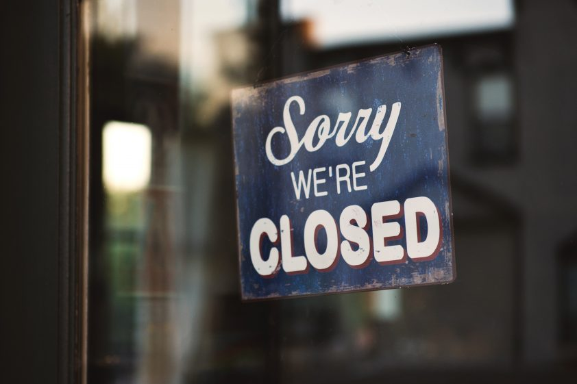 Shop closed for bank holidays