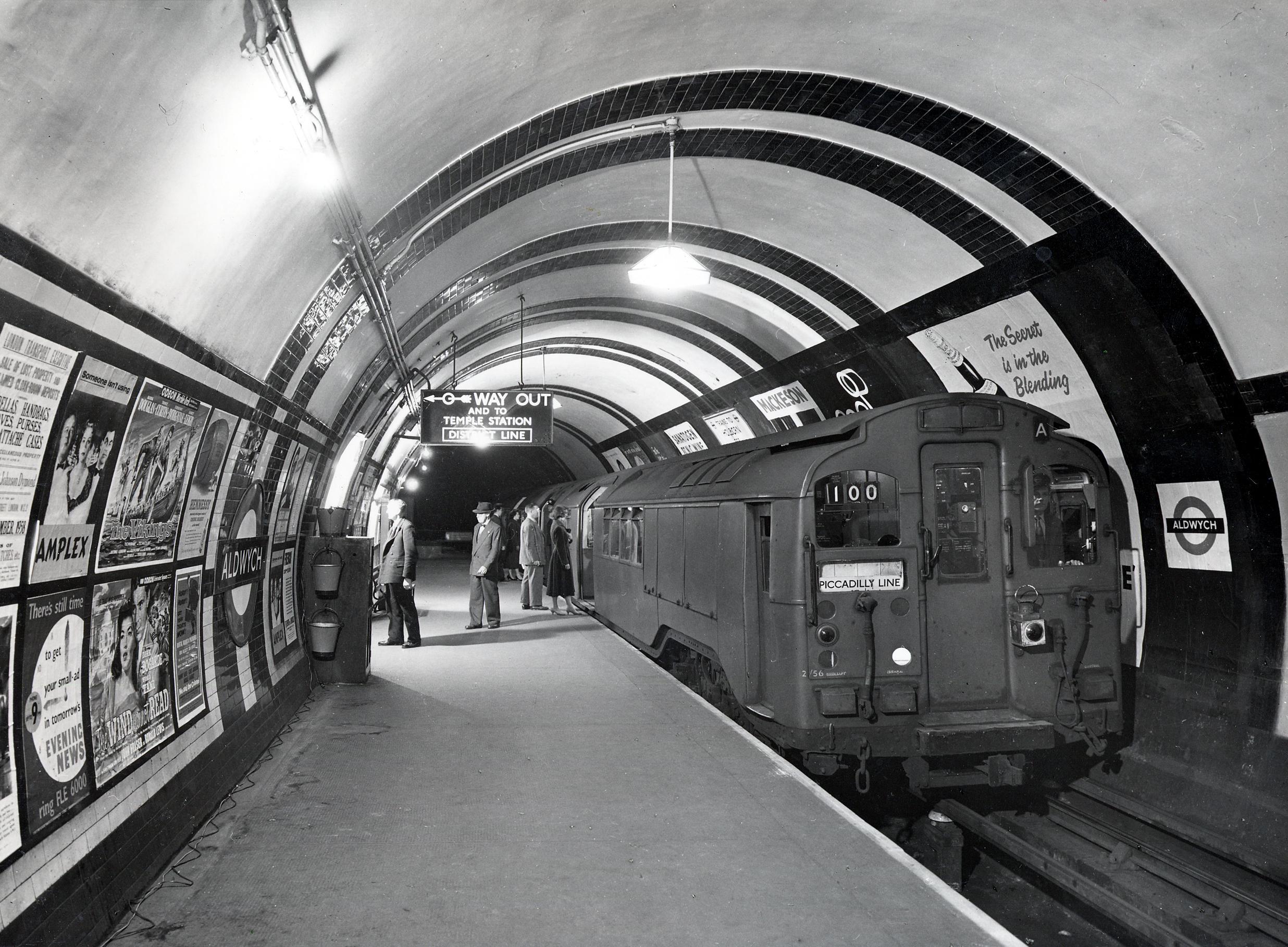 Aldwych Station in 1958