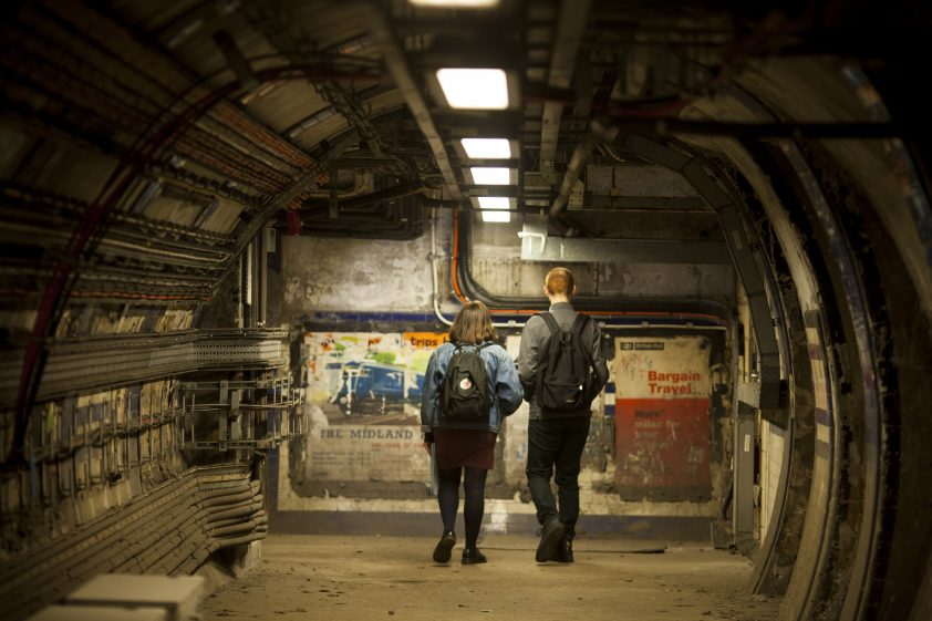 Inside Euston Station