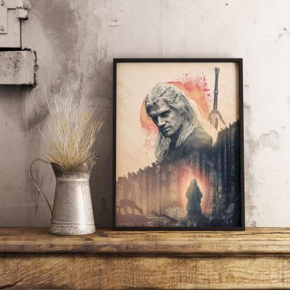 Artwork Poster The Witcher Geralt of Rivia