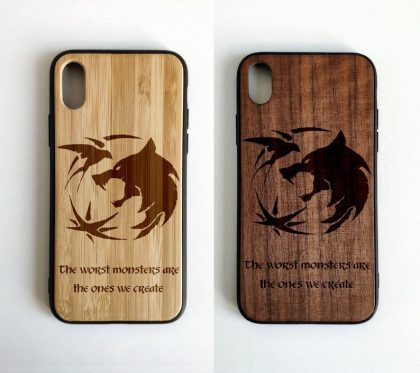 Witcher wooden phone case