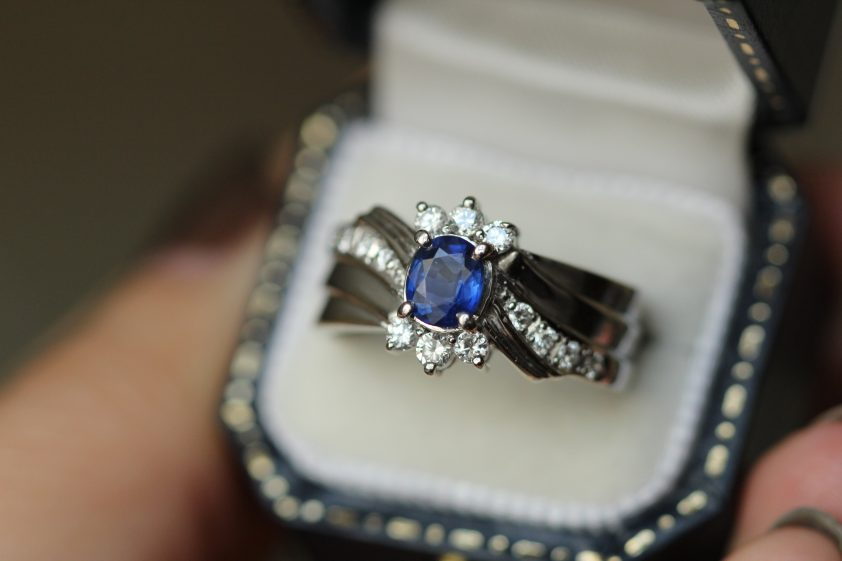 Sapphire ring for 45th wedding anniversary gift