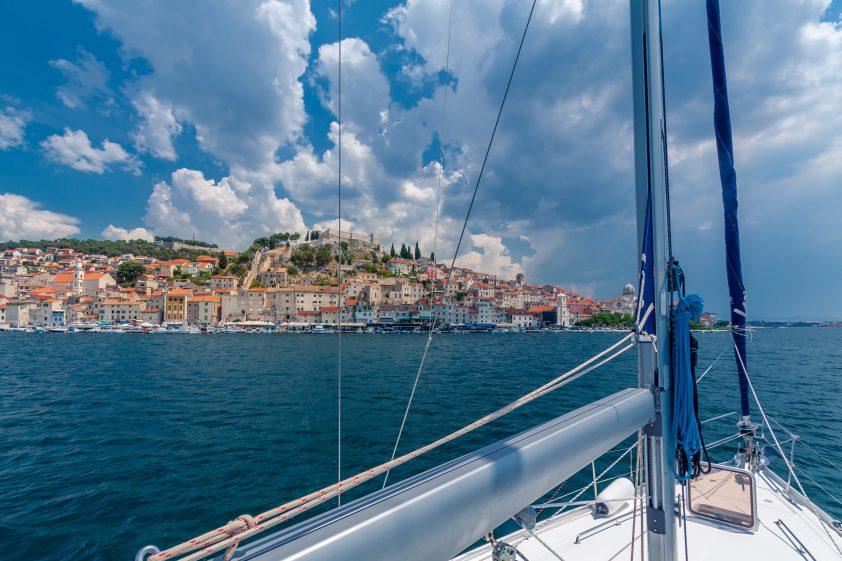 Yacht in Sibenik, Croatia
