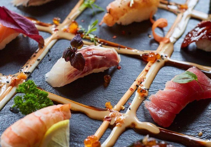 Sushi at Uchi Hackney