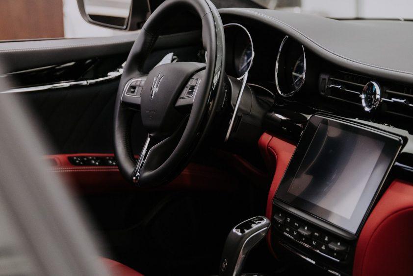 Leather interior of Maserati