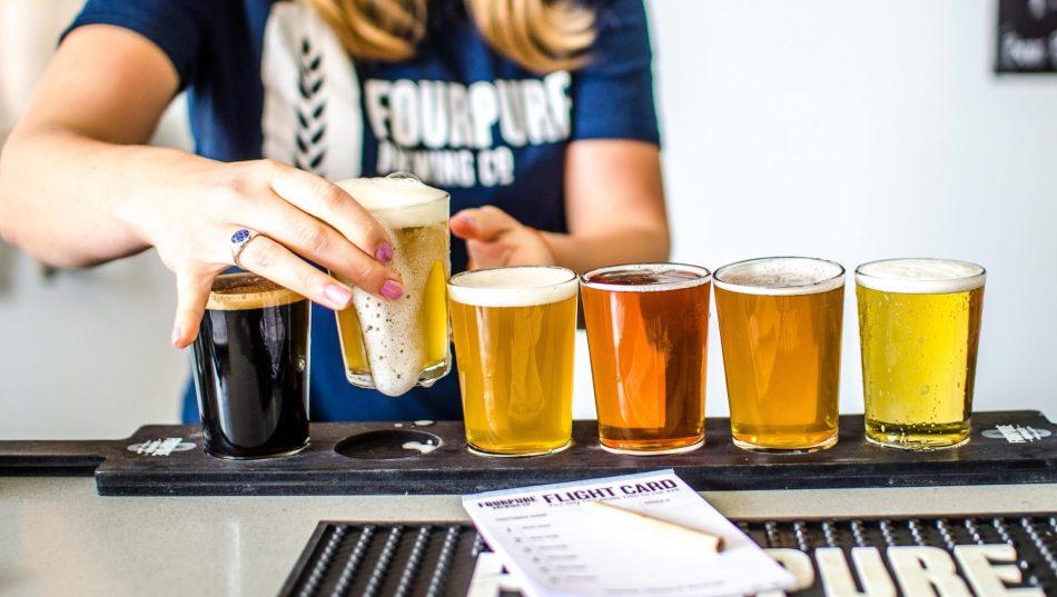 Beer tasters along Bermondsey Beer Mile