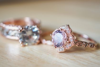 Pink sapphire rings for 5th anniversary gift for her