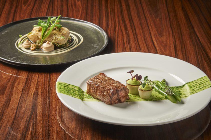 two mains from the tasting menu at Aqua Shard