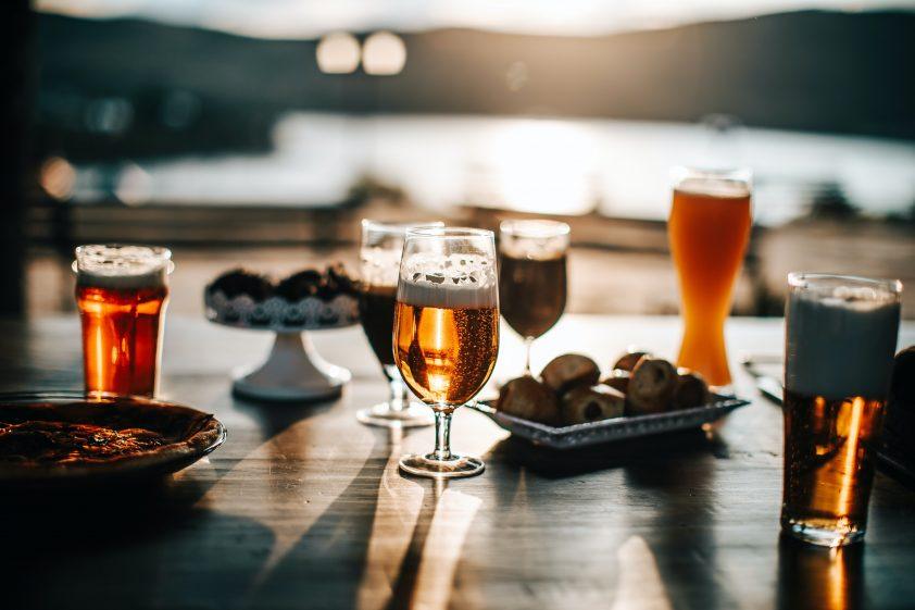 Fruity beer tasting