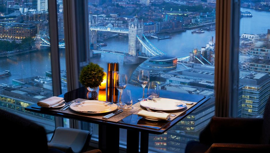 table with a view at ting